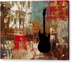 Guitar Solo Acrylic Print by Carmen Guedez
