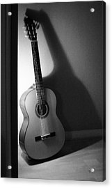 Guitar Still Life In Black And White Acrylic Print
