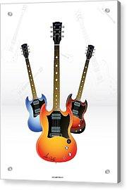 Guitar Style Acrylic Print