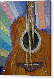 Guitar Sunshine Acrylic Print by Michael Creese