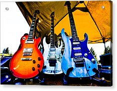 Guitar Trio Acrylic Print by David Patterson
