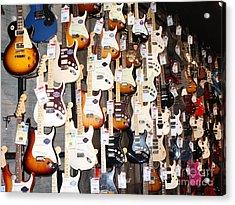 Guitar Wall Of Fame Acrylic Print