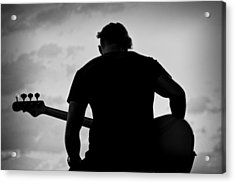 Guitarist - Funktography By Nerisha Ray Singh Acrylic Print by Nerisha Ray Singh