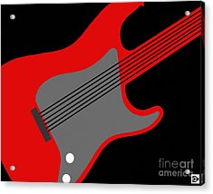 Acrylic Print featuring the digital art Guitarpop I by Andy Heavens