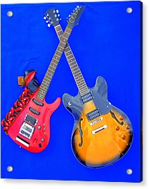 Double Heaven - Guitars At Rest Acrylic Print