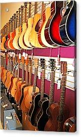 Guitars For Sale Acrylic Print