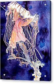 Acrylic Print featuring the painting Gulf Coast Jelly by Jeffrey S Perrine