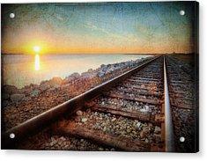 Gulf Coast Railroad Acrylic Print by Ray Devlin