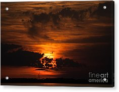 Gulf Coast Sunset 1 Acrylic Print