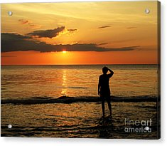 Gulf Coast Sunset Acrylic Print by Sharon Burger