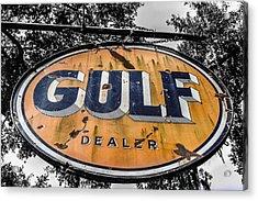 Gulf Dealer Sign Acrylic Print by Steven  Taylor