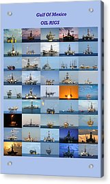 Gulf Of Mexico Oil Rigs Poster Acrylic Print