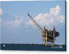 Gulf Oil Rig Acrylic Print