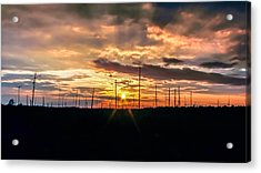 Gulf Shore Sunset Acrylic Print by Rob Sellers