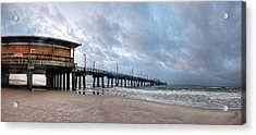 Acrylic Print featuring the digital art Gulf State Pier by Michael Thomas
