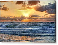 Gulf Waters Acrylic Print by HH Photography of Florida