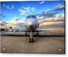 Gulfstream Gx450 At Livermore Klvk With Virga Acrylic Print