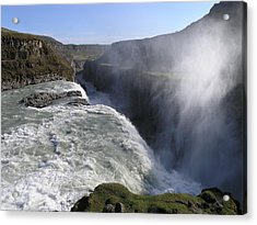 Acrylic Print featuring the photograph Gullfoss by Christian Zesewitz