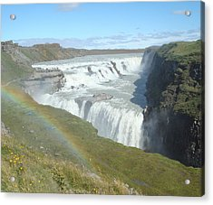 Gullfoss Waterfall Acrylic Print