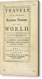 Gulliver's Travels (1726) Acrylic Print by British Library