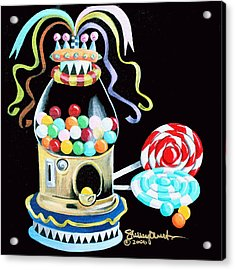 Gumball Machine And The Lollipops Acrylic Print by Shelley Overton