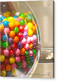 Gumball Machine Acrylic Print by Artist and Photographer Laura Wrede