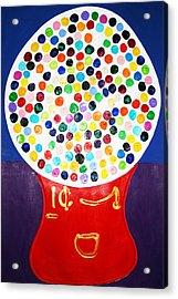 Gumball Machine Acrylic Print by Matthew Brzostoski