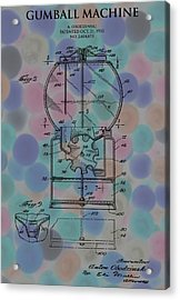 Gumball Machine Poster 2 Acrylic Print by Dan Sproul