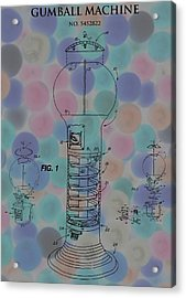 Gumball Machine Poster Acrylic Print by Dan Sproul