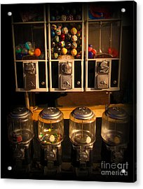 Gumball Memories - Row Of Antique Vintage Vending Machines - Iconic New York City Acrylic Print