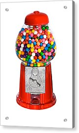 Gumball Vending Machine Acrylic Print by Joe Belanger