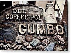 Gumbo Coffee Acrylic Print