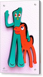 Gumby And Pokey B F F Acrylic Print by Rob Hans