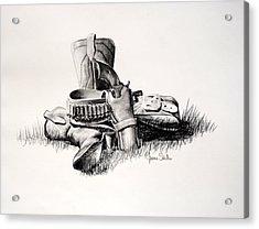 Gun And Holster Acrylic Print by James Skiles