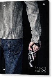 Gun Acrylic Print by Edward Fielding