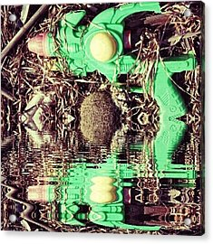 #gun #game #futuristic #cyberpunk Acrylic Print