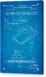 Gundlach Photocopier Patent Art 1957 Blueprint Acrylic Print by Ian Monk