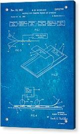Gundlach Photocopier Patent Art 1957 Blueprint Acrylic Print by Ian Monk