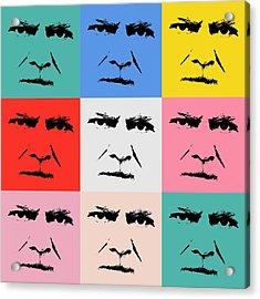 Gunnar Hansenpopart Acrylic Print by Tommytechno Sweden