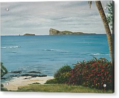 Gunner's Quoin From Pointe Aux Cannoniers - Mauritius Acrylic Print by Gulay Berryman