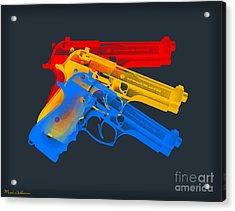 Guns Acrylic Print by Mark Ashkenazi