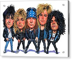 Guns N' Roses Acrylic Print by Art