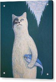 Gunter And His Pet Fish Klaus Acrylic Print