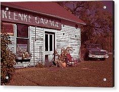 Acrylic Print featuring the photograph Gus Klenke Garage by Chuck De La Rosa