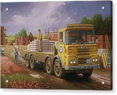 Guy Big J Eightwheeler. Acrylic Print by Mike  Jeffries