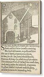 Guy Fawkes And Satan Acrylic Print by British Library