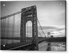 Gw Bridge Winter Sunrise Acrylic Print