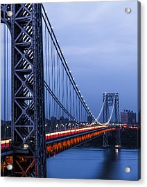 Gwb From Fort Lee Acrylic Print by Chris Halford