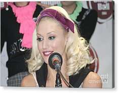 Singer Gwen Stefani Acrylic Print by Concert Photos