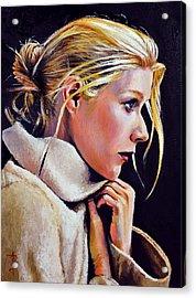 Gwyneth Acrylic Print by Anthony Sell
